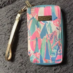 Lilly Pulitzer Sailboat Phone Wallet Wristlet